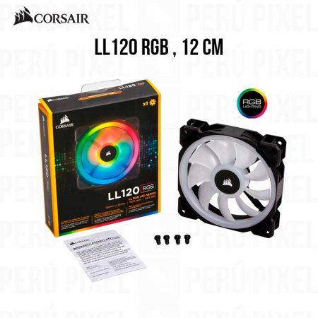 COOLER PARA CASE CORSAIR LL120RGB 12CM