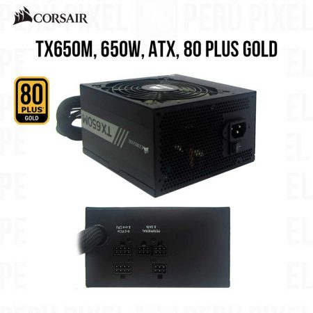 FUENTE DE PODER CORSAIR TX650M 650W 80 PLUS GOLD