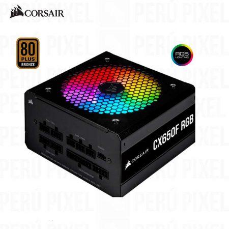 FUENTE DE PODER ATX CORSAIR CX650F RGB, 650W, 80 PLUS BRONZE