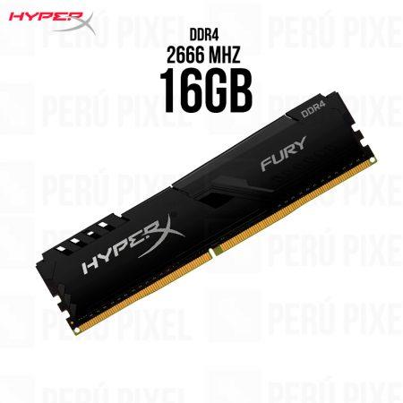 Memoria RAM HyperX Fury Black, 16GB 1x16, 2666MHz