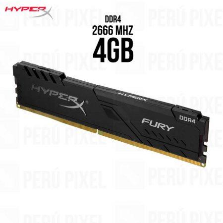MEMORIA RAM HYPERX FURY BLACK 4GB 1X4 2666MHZ