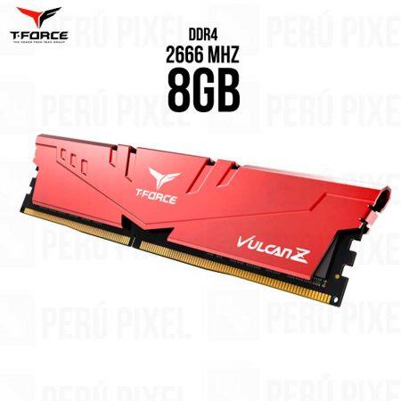 MEMORIA RAM T-FORCE VULCAN Z 8GB, 2666MHZ
