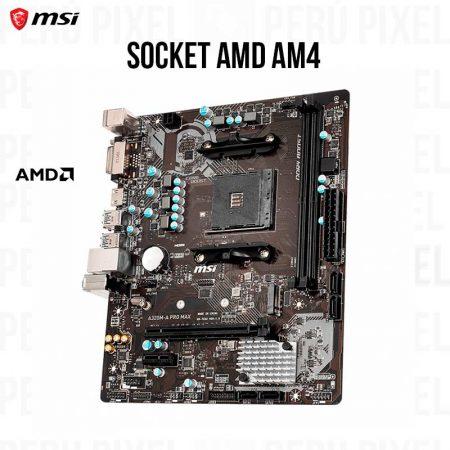 Placa Madre MSI A320M-A PRO MAX, DDR4, AM4 SOCKET