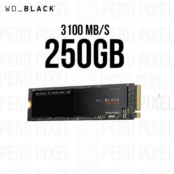 WD BLACK S750 250GB NVME