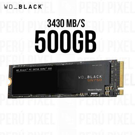 SSD M.2 2280 WD BLACK SN750 500GB NVME
