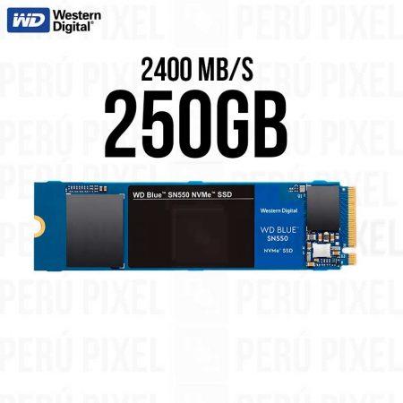 SSD M.2 2280 WD BLUE SN550 250GB NVME