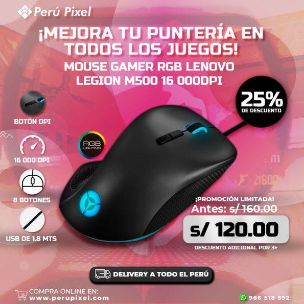 Oferta! Mouse Gamer Lenovo LEGION M500