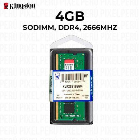 Memoria SODIMM Kingston KVR26S19S6/4, 4GB, DDR4